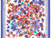 "Платок из хлопка ""10660"", вид 13, 71х71см Рисунок 10660-13"