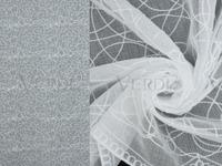 Имитация льна с вышивкой Уолден Артикул: 103/1965-1 белый  Ширина рулона: 280