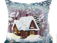 Гобеленовый декоративный чехол для подушки «Метелица»
