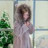Шуба из дубленки детская, цв. молочный, 6-9 лет